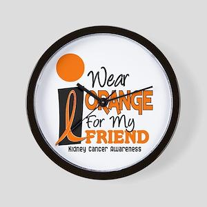 I Wear Orange For My Friend 9 KC Wall Clock