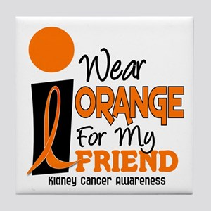 I Wear Orange For My Friend 9 KC Tile Coaster