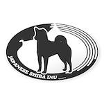 Japanese Shiba Inu Sticker (Oval 50 pk)