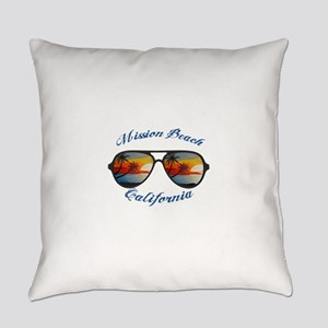 California - Mission Beach Everyday Pillow