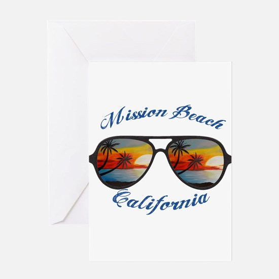 California - Mission Beach Greeting Cards