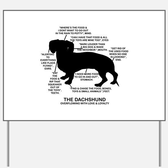 Dachshund Chart Yard Sign