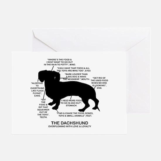 Dachshund Chart Greeting Card