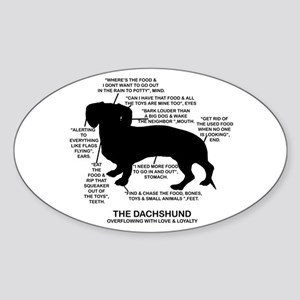 Dachshund Chart Oval Sticker