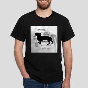 Dachshund Chart Dark T-Shirt