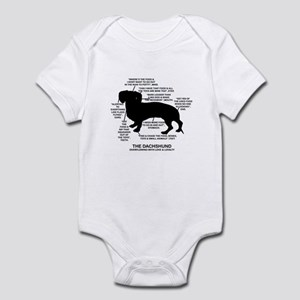 Dachshund Chart Infant Bodysuit