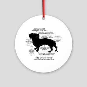 Dachshund Chart Ornament (Round)