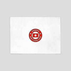 Geneva Switzerland 5'x7'Area Rug