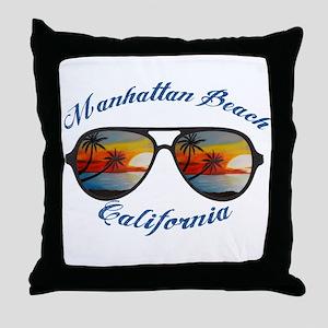 California - Manhattan Beach Throw Pillow