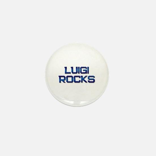 luigi rocks Mini Button