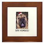 BAH HUMBUG HUMOROUS Framed Tile