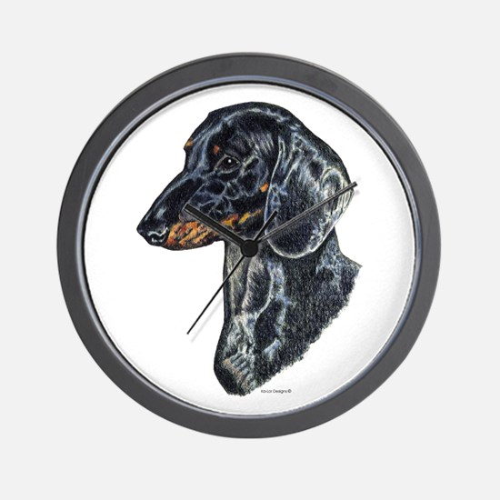 Dachshund Doxie Head Wall Clock