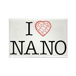 I heart Nano Rectangle Magnet (100 pack)