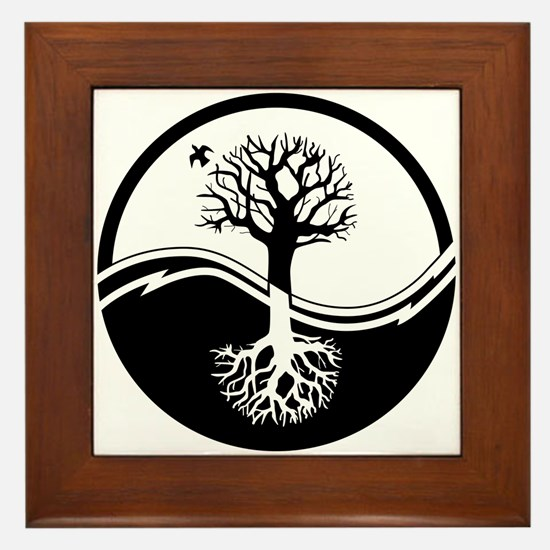Reiki Tree Framed Tile