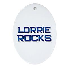 lorrie rocks Oval Ornament