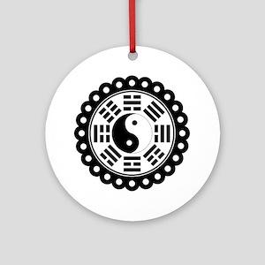 Trigram Symbol Ornament (Round)