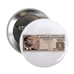 "The Obama Food Stamp 2.25"" Button"
