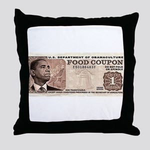 The Obama Food Stamp Throw Pillow