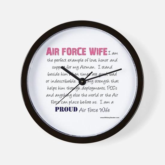 I Am...Air Force Wife Wall Clock