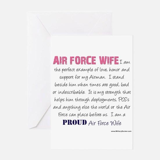 I Am...Air Force Wife Greeting Card