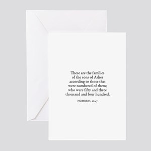 NUMBERS  26:47 Greeting Cards (Pk of 10)