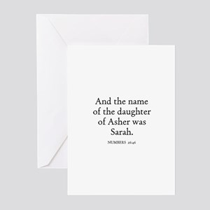 NUMBERS  26:46 Greeting Cards (Pk of 10)