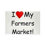 Heart Farmers Market Rectangle Magnet (100 pack)