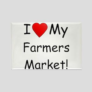 Heart Farmers Market Rectangle Magnet