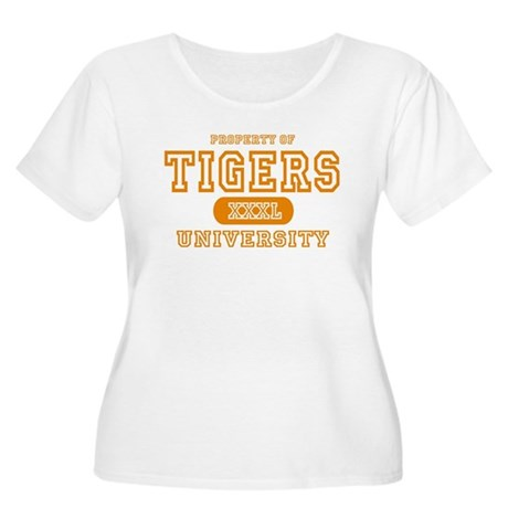 Tigers University Women's Plus Size Scoop Neck T-S