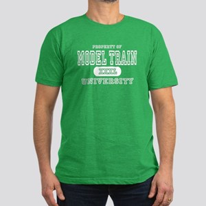 Model Train University Men's Fitted T-Shirt (dark)