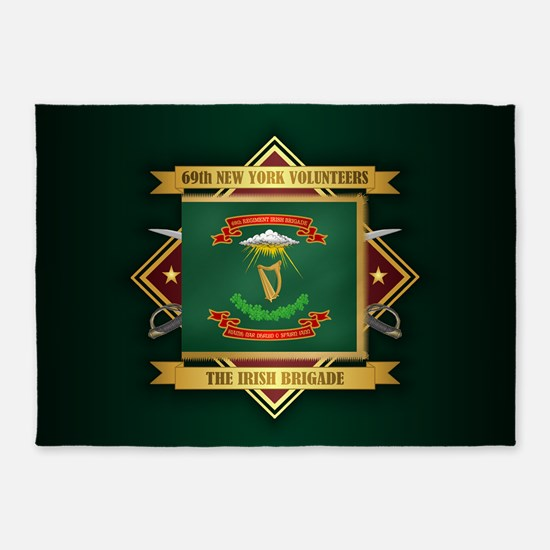 69th NY Volunteer Infantry 5'x7'Area Rug