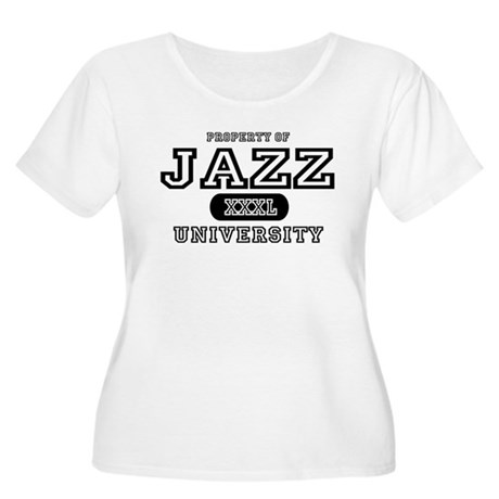 Jazz University Women's Plus Size Scoop Neck T-Shi