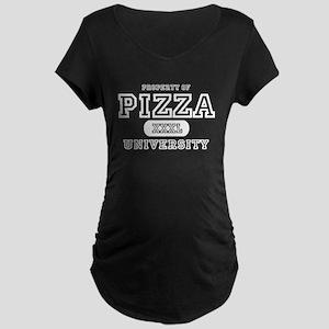 Pizza University Maternity Dark T-Shirt
