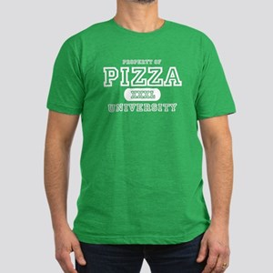 Pizza University Men's Fitted T-Shirt (dark)