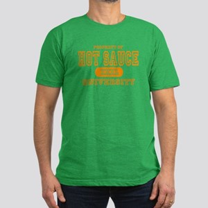 Hot Sauce University Men's Fitted T-Shirt (dark)
