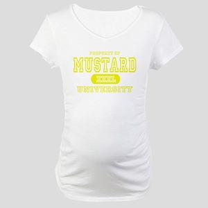 Mustard University Yellow Maternity T-Shirt