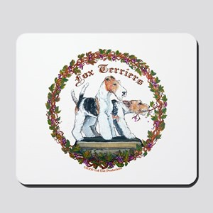 Fox Terrier Trouble Mousepad
