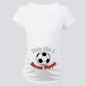 Soccer Player Maternity T-Shirt