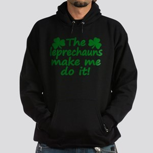 Leprechauns Made Me Do It Hoodie (dark)