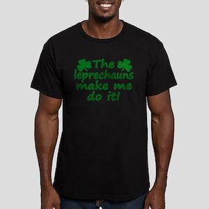 Leprechauns Made Me Do It Men's Fitted T-Shirt (da