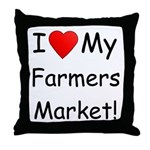 Heart Farmers Market Throw Pillow