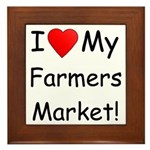 Heart Farmers Market Framed Tile