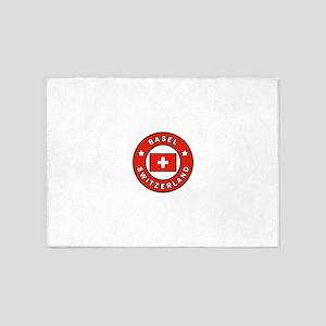 Basel Switzerland 5'x7'Area Rug