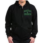 Boston Irish Zip Hoodie (dark)