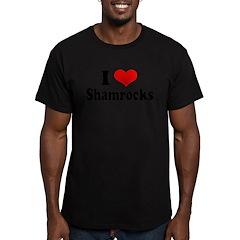 I Love Shamrocks Men's Fitted T-Shirt (dark)
