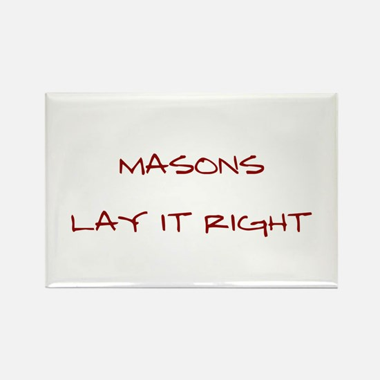 Masons... Rectangle Magnet