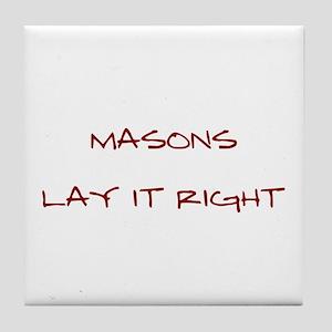 Masons... Tile Coaster