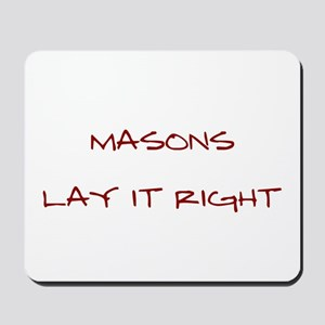 Masons... Mousepad