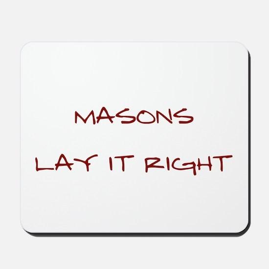 Masons... Mousepad
