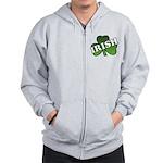 Green Shamrock Shamrock Zip Hoodie